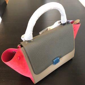 Celine Trapeze Medium Tricolor Bag. BRAND NEW